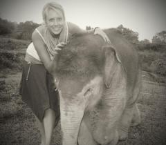 Bona, a survivor. Now an ambassador for her species.