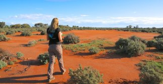 Taking a look around White Leeds Wetlands, a conservation property in Broken Hill.