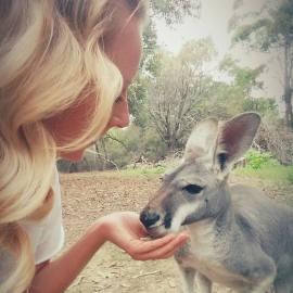 Spending time out at the Kangaroo Protection Centre in Sydney.