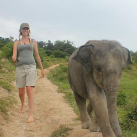 Hanging out with this cheeky girl in Sumatra.