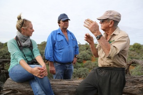 Out in the outback on a conservation property with Bob Irwin and Steve Radford.