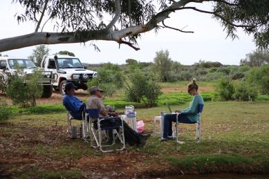 The bush office. Working away in Broken Hill.