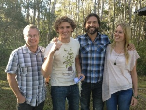Filming with Adam Cox on Totally Wild