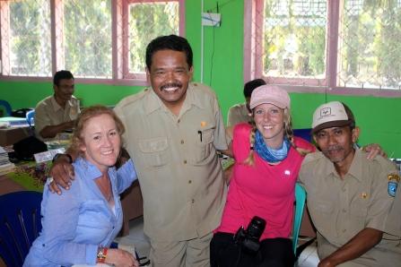 Returning to visit schools in Sukabaru Seblat.