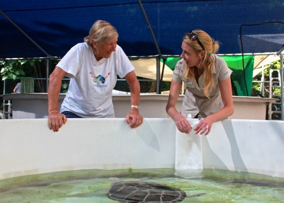 Hanging out with the amazing Jennie Gilbert from the Cairns Turtle Rehabilitation Centre.