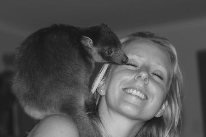 Hanging out with this cute little baby Lumholtz Tree Kangaroo in Far North Queensland.