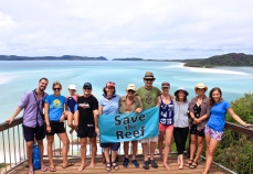 On tour with the Fight for the Reef campaign in the Whitsundays.